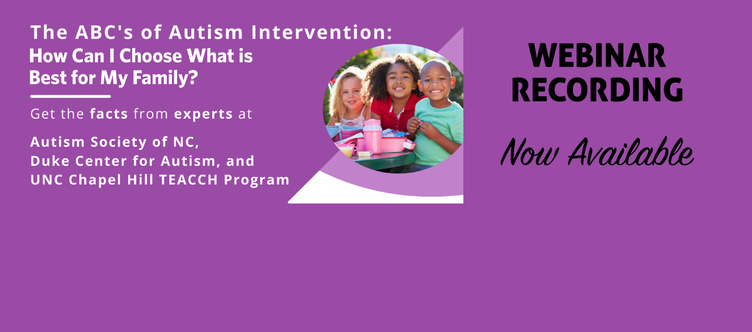 The ABC's of Autism Intervention Webinar