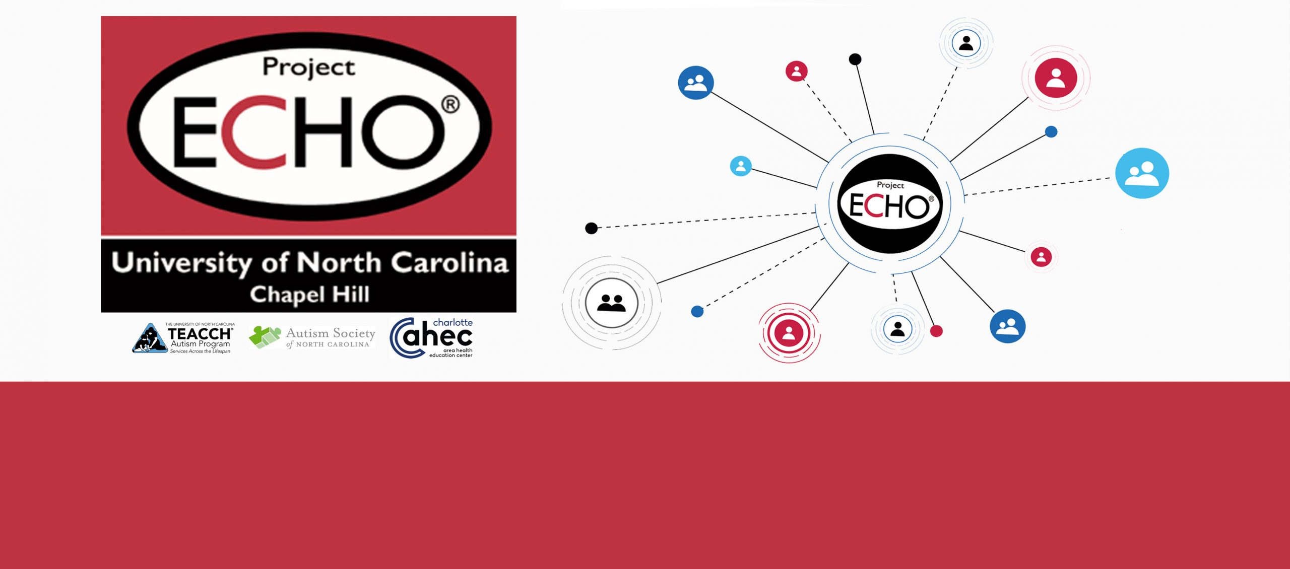 Project ECHO Autism Program web banner with logos