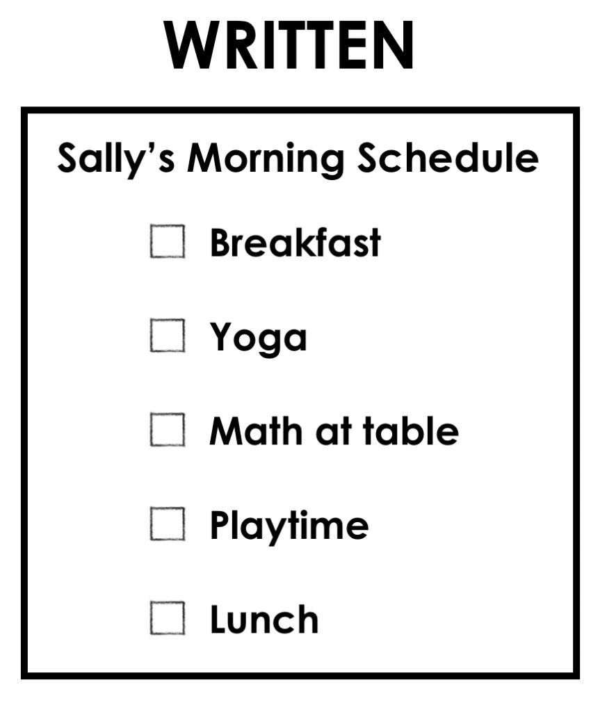 written schedule