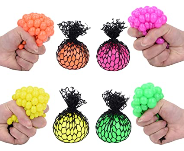 Totem World 24 Colorful 1-Inch Mini Mesh Stress Balls