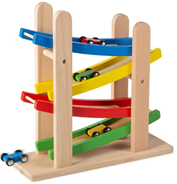 Play22 Wooden Car Ramps Race